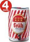 4 x Früh Kölsch 5 L Partyfass 4,8% vol.