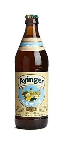 20 Flaschen Ayinger Bräuweisse a 500ml hefetrübes helles Weizenbier 5,1% Vol. inc. 1.60€ MEHRWEG...