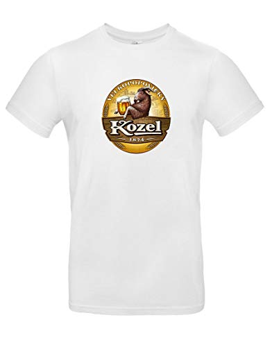 TsForYou T-Shirt Bier Kozel Prag, A0000263, Weiß, A0000263 X-Small