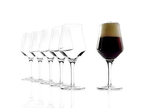 Stölzle Lausitz 0,3 l Craft Bier Gläser, 430 ml, 6er Set, hoch Funktionelle Biergläser für...