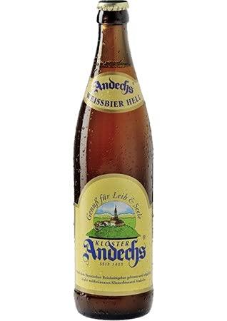Andechser Weißbier Hell (Mehrweg) (12 Flaschen | auch als 9er, 12er, 18er oder 30er Box), gebraut...