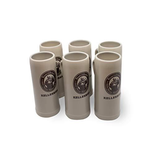 Zum Franziskaner Original Tonkrug | Kellerbier | Höchster Biergenuss (0,5 L, 6 STÜCK)
