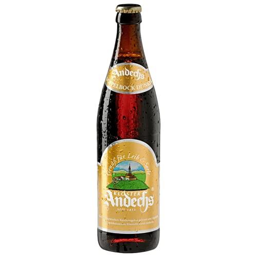 Andechser Doppelbock Dunkel (Mehrweg) (12 Flaschen | auch als 9er, 12er, 18er oder 30er Box),...
