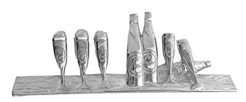 magdalena r. Bier Pils Krawattennadel Krawattenklammer Glas 6 cm l. silbern glänzend m.i. Germany +...