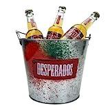 Desperados Flaschen-Kühler, 3x Desperados Flasche 0,33L (5,9% Vol) + Flaschenkühler/Eisbox/Kübel-...