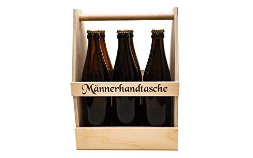 6er Bierträger mit Druck Männerhandtasche, Sixpack, Flaschenträger