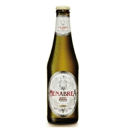 Bier Menabrea 150° 0,33 lt. - La 150° Bionda - Steige mit 24 Flaschen x 0,33 lt.