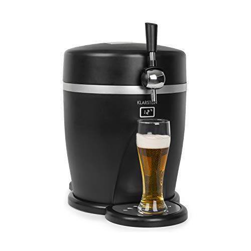 Klarstein Tap2Go mobile 2-in-1 Bierzapfanlage mit Getränkekühler, für 5l Fässer, 13l...