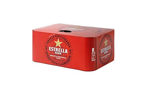 Bier Estrella Damm 12x33cl (Pack 12 Dosen)