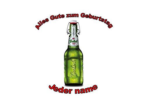 Flasche Grolsch-Bier-Lager-personalisierter Name 8 Zoll-runder Zuckerguss-Deckel Bottle of Grolsch...