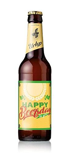 6er Geburtstags-Bier-Box Happy Beersday mit Namenseindruck