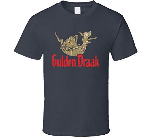 N/Y Gulden Draak Belgisches Bier Ale Lover Cool Worn Look T-Shirt Anthrazit Gr. M, Schwarz