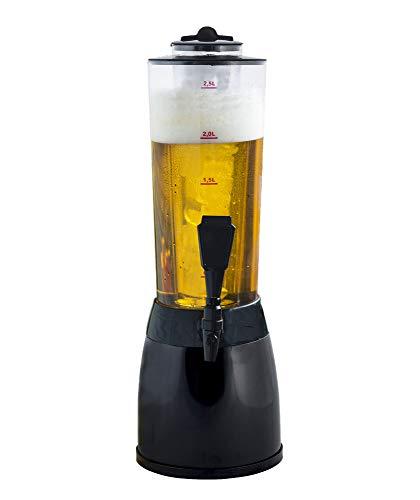 Gadgy ® Biersäule | 3,6 L. Bierspender Getränkespender Zapfsaule | Separates Kuhlelement | 53 cm....