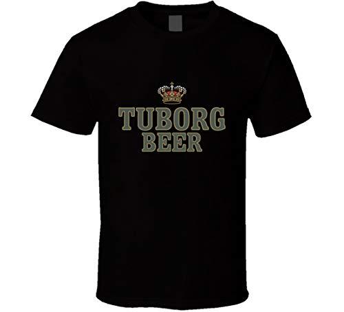 Tuborg Bier-Stil Krone T-Shirt schwarz Gr. XXL, Schwarz