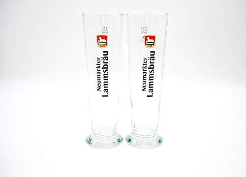 Neumarkter Lammsbräu 2er Set Bierglas Basic-Stange 0,5 Liter