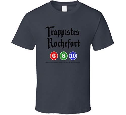N/Y Rochefort Belgisches Bier Ale Lover Cool Worn Look T Shirt Anthrazit 6 8 10 Gr. XL, Schwarz
