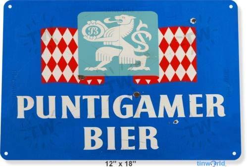 Metall-Blechschild 20,3 x 30,5 cm Blechschild Puntigamer Bier Bar Pub Biergeschäft Höhle...