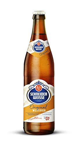 Schneider Weisse - Hefe-Weizenbier (TAP 7 / 20 Flaschen à 0,5 l / 5,4 % vol.) inc. 1.60€ MEHRWEG...