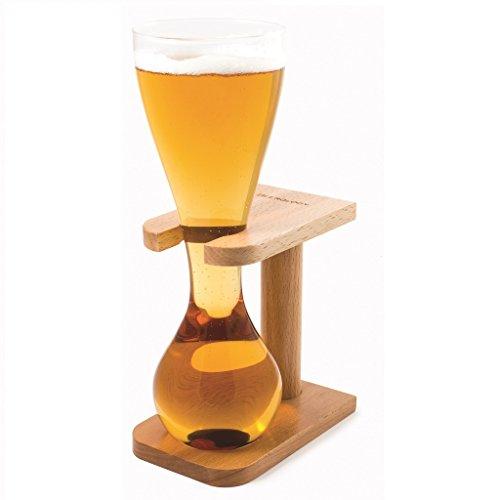 CKB Ltd® Quarter Yard Tall Ale Glass With Smart Birch Wood Stand Holder Kwak Biergläser Bierglas...
