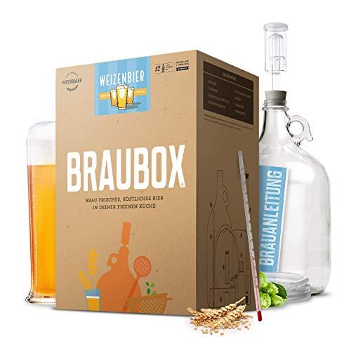 Braubox®, Sorte Weizenbier ● Bierbrauset zum Bier brauen in der Küche ● mit Erfolgsgarantie...