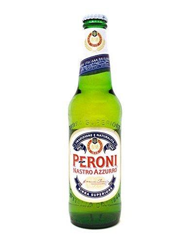 12 Flaschen Peroni Nastro Azzurro Birra Superiorea 0.33l inc. 3.00€ EINWEG Pfand Glas Italien Bier...