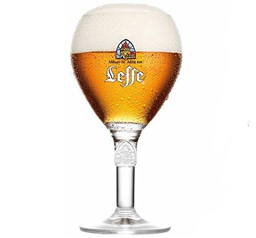Leffe Biergläser Bier Kelch 33cl + 1 Freie Bierdeckel
