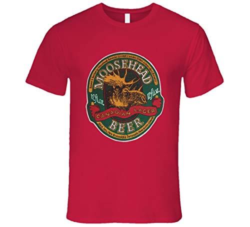 ABADI Moosehead Beer Retro Werbung Canadian Beer T-Shirt Reissue rot Gr. L, Schwarz
