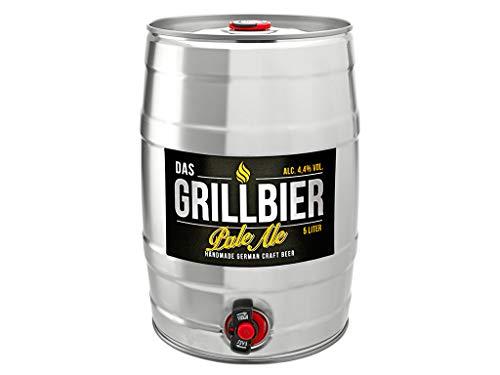 DAS GRILLBIER Bier Geschenk für Männer Vatertag Bierfass 5l Pale Ale Handmade German Craft Beer...