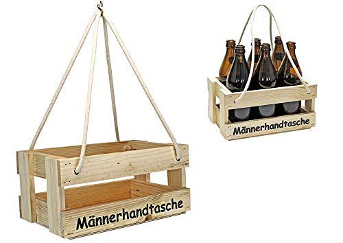 protectore Bierträger - Flaschenträger - Männerhandtasche - Getränkekorb - Sixpack - leer -...