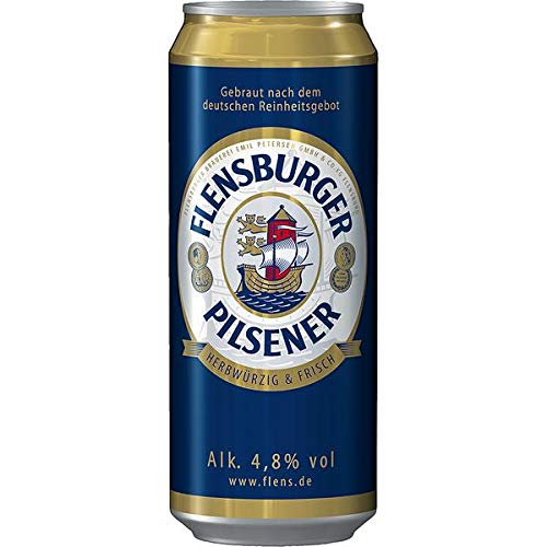 24 Dosen Flensburger Pilsener inc. 6.00€ EINWEG Pfand 4,8% Vol.