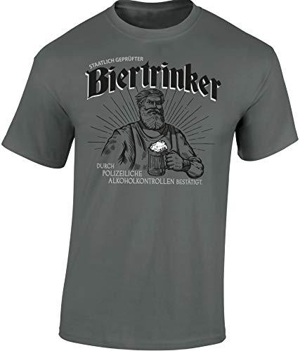 Bier T-Shirt : Staatlicher Geprüfter Bier-Trinker - Geschenk für Bierliebhaber - Geschenke für...
