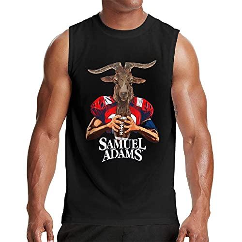 Lsjuee Samuel Adams Bier Logo Muscle Tank Top, Schwarzes T-Shirt, Ärmelloses T-Shirt