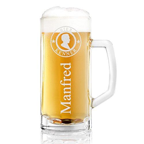 polar-effekt Bierkrug Personalisiert mit Gravur eines Namens – Bierseidel Geschenk-Idee zum...