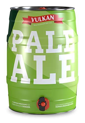 VULKAN Pale Ale 5 Liter Partyfass, Dose, Fass mit Zapfhahn und Tragegriff (Pfandfrei)
