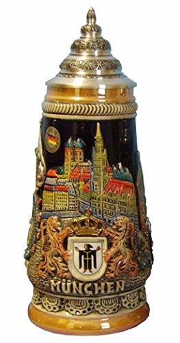 KING Bierkrug München Reliefseidel 0,5 Liter Bierseidel KI 305 0,5L Muenchen