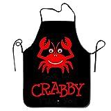 UYTGYUHIOJ Don't Be Crabby I Love You Cute Kitchen Apron