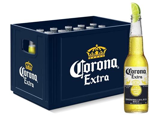 Corona Extra Premium Lager Flaschenbier, MEHRWEG (24 x 0.355 l) im Kasten, Internationales Lager...