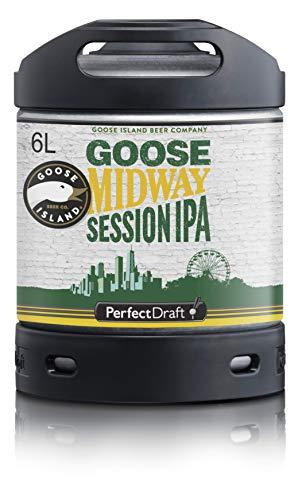 Bier PerfectDraft 1 x 6-Liter Fass Goose Island Midway IPA Bier - Session IPA. Zapfanlage für...