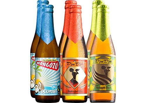 Exotisches Bier Paket Afrika mit 6 Bierflaschen - Kokosnuss-Bier + Maracuja-Bier + Ananas-Bier für...