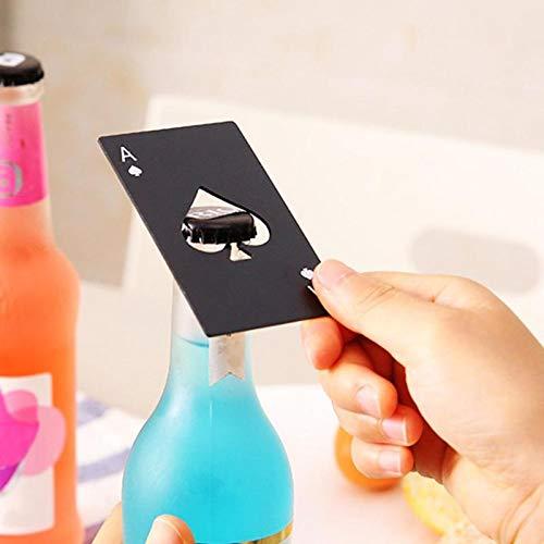 Bier Flasche Öffner Black Poker Card Spaten Bier Flaschenöffner personalisierte Edelstahl...