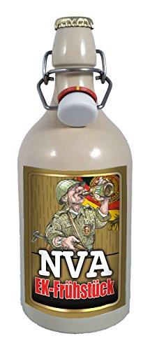 NVA EK-Frühstück 0,75 Liter Tonflasche Bier mit Bügelverschluss
