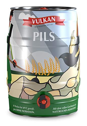 VULKAN Pils 5 Liter Partyfass, Dose, Fass mit Zapfhahn und Tragegriff (Pfandfrei)