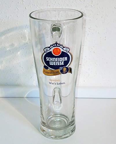 Schneider Weisse Bierglas Weißbierglas/Glas/mit Henkel / 0,5 Liter