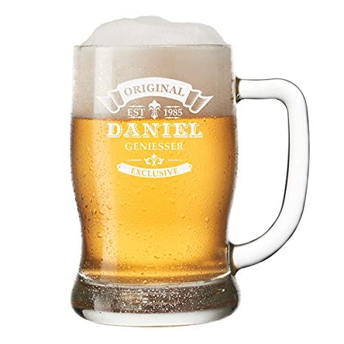 polar-effekt Bierkrug Personalisiert mit Gravur eines Namens und Jahreszahl - Bierseidel Geschenk...