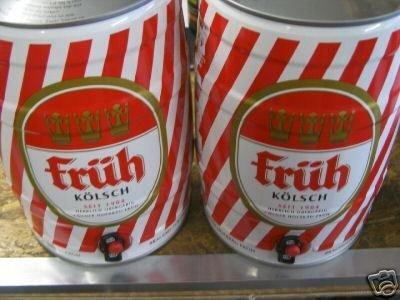 2 Fässer a 5,0 Liter Früh Kölsch Partyfass Dose Bier 4,8%