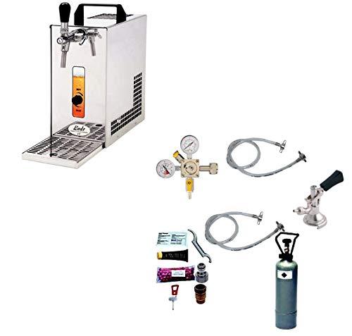 Gastrobedarf Westerbarkey Zapfanlage Trockenkühler 30l/h Komplettset 2kg Co², Uhr, Schläuche Keg...