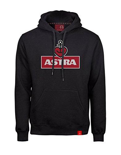 ASTRA Hoodie Herzanker Unisex Größe M, Sweater in Schwarz, sportlicher Kapuzen-Pullover mit...