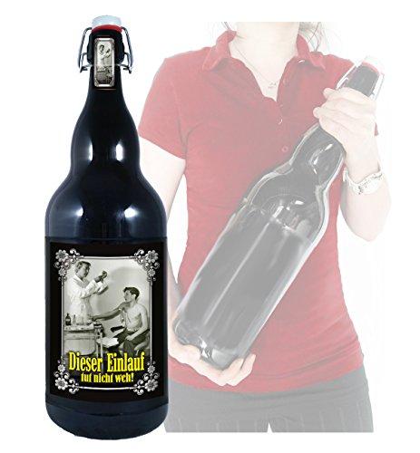 Dieser Einlauf tut nicht weh! - 3 Liter XXL-Flasche Bier mit Bügelverschluss