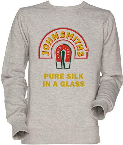 John Smith Pure Silk Glass Beer Herren Unisex Herren Damen Jumper Sweatshirt Grau Men's Women's...
