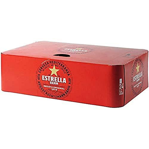 Bier Estrella Damm 24x33cl (Pack 24 Dosen)